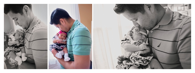 Daddy Daughter Newborn Photos