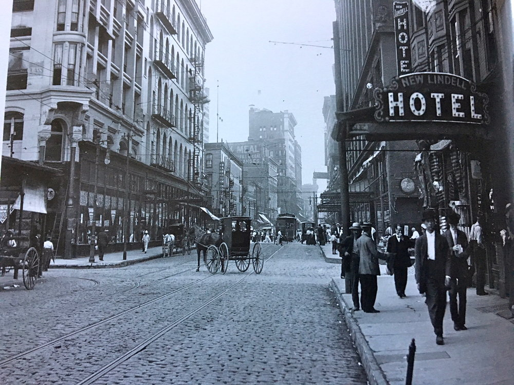 6th Street looking south from Lucas Ave, ca. 1906.