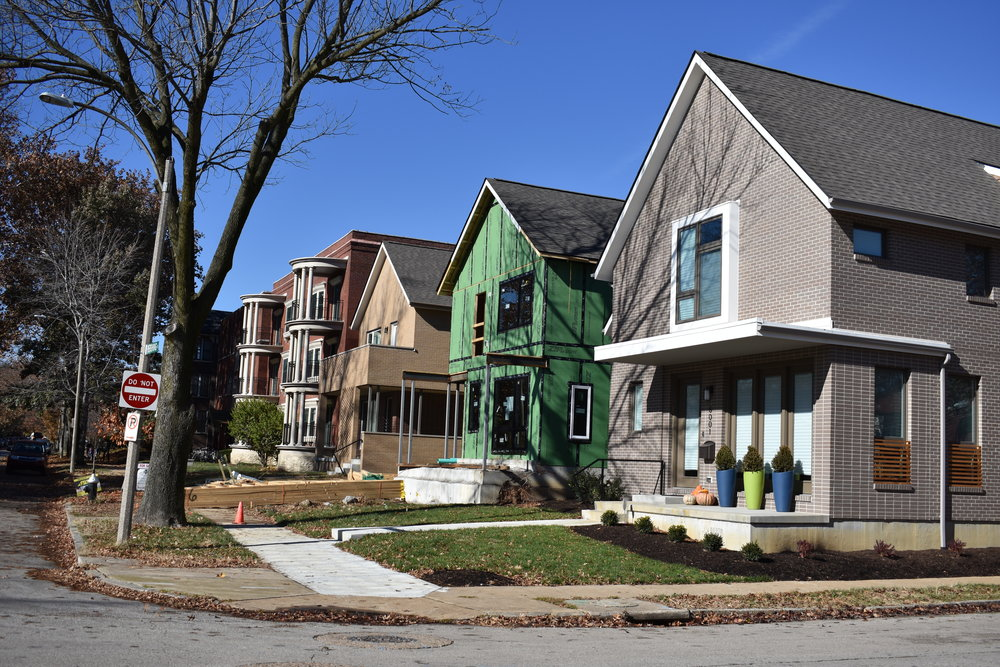 New homes at Pershing and Des Peres