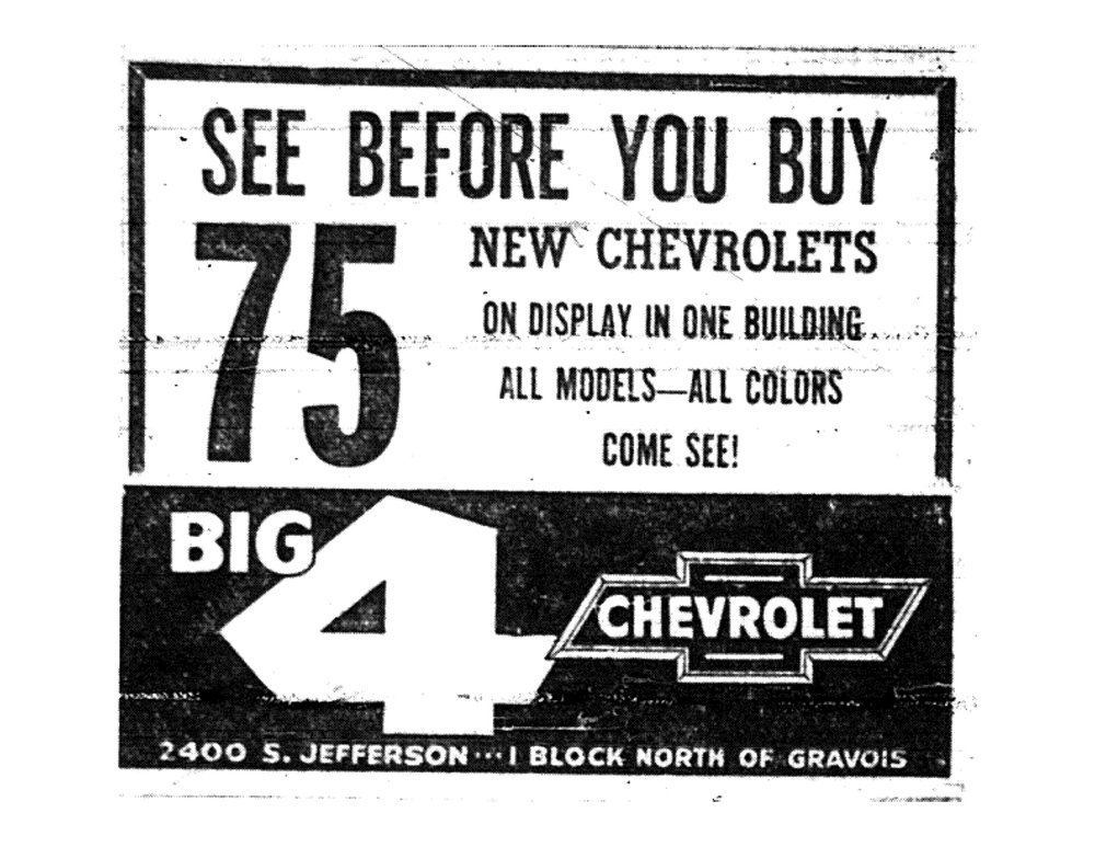 St. Louis Globe Democrat advertisement