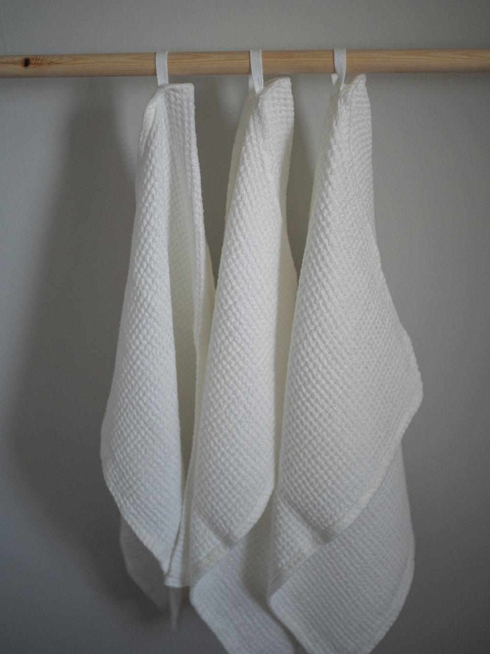 Waffle Linen Towels