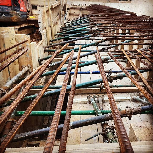 Getting ready for the concrete pour for the basement #concrete #steel #temporary #construction #projectmanagement #surrey