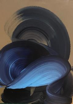 Title: Blue Swirl Artist: Dragica Carlin Website: https://www.dragicacarlin.com/ Year Created: 2017 Materials: Oil in wood Size: 52 cm x 38 cm Usual RRP £300