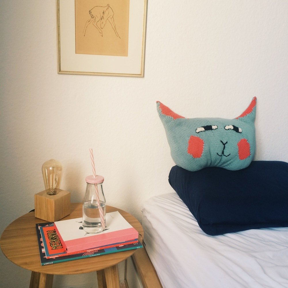 3. Have it always ready on the bed as your sleep companion for those lonely nights. Hug a cat!