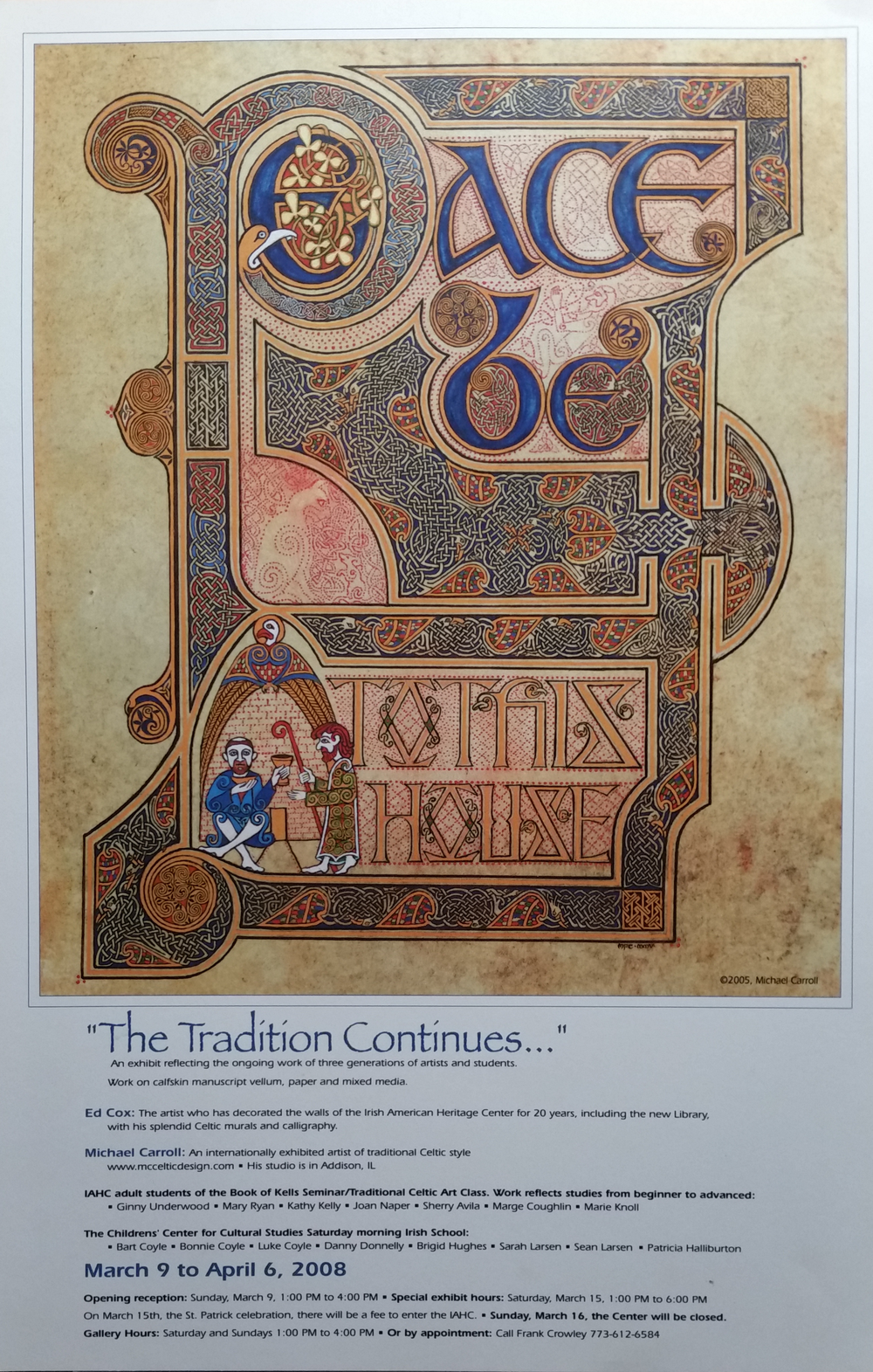2008: The Tradition Continues exhibition poster, Irish American Heritage Center, Chicago IL