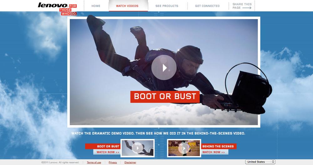 RapidBoot Landing Page