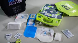 Stock photo of AED equipment.