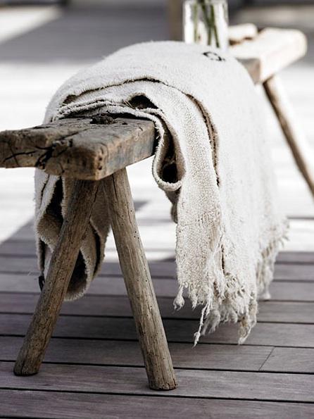 Natural White Vintage Hemp Rug  - Inquire