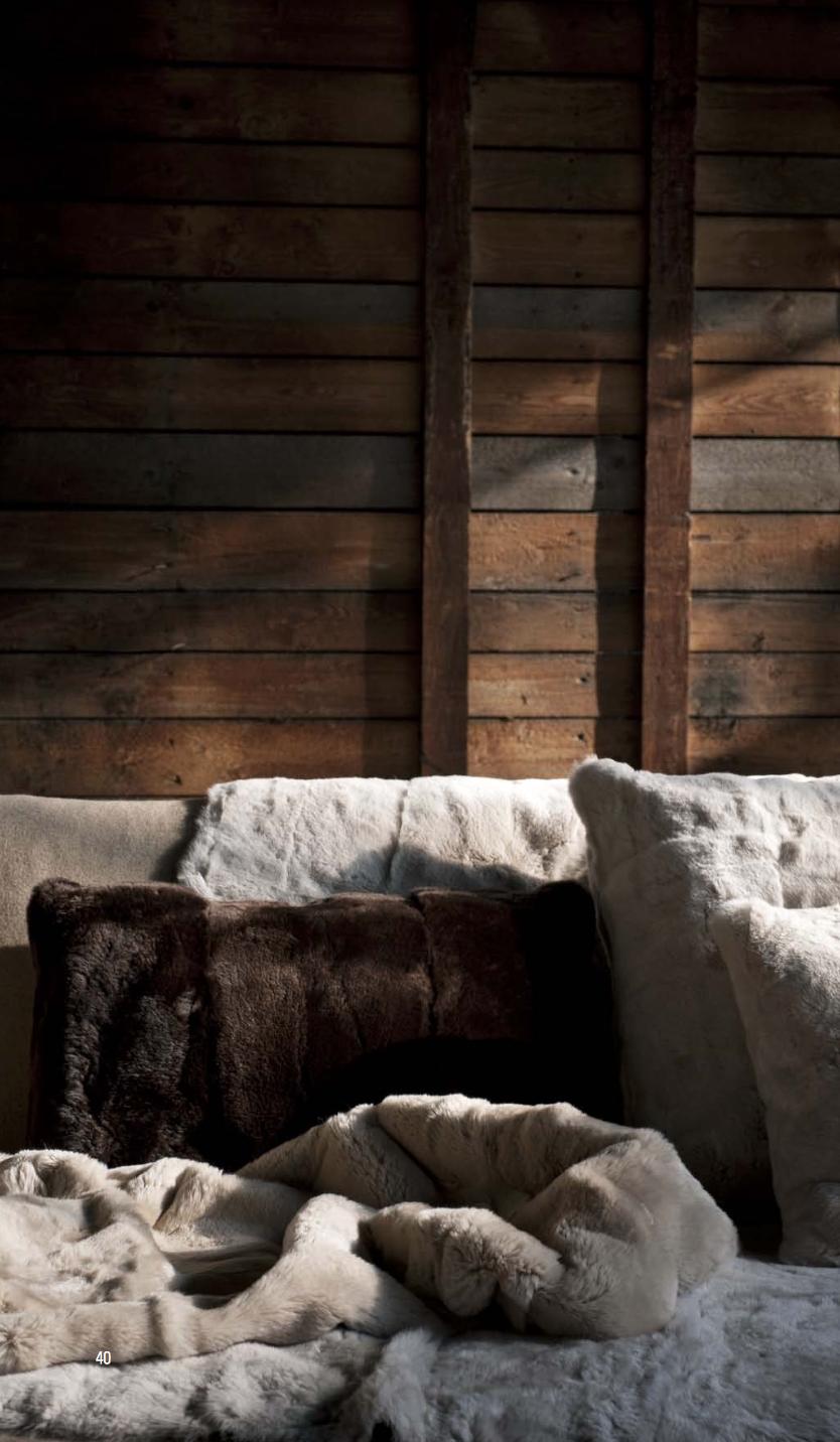 Shariff Fur Blanket & Cushions  - Inquire