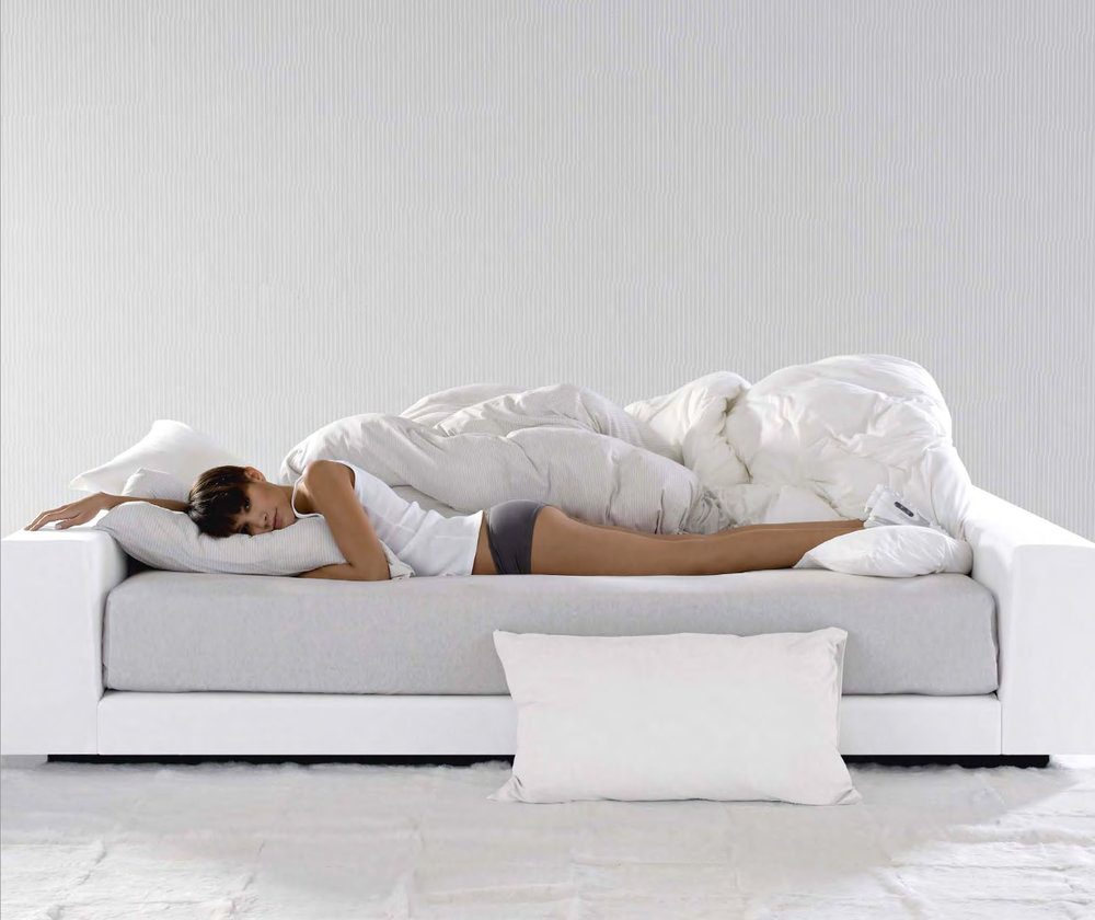 You and Me Sofa draped in Sinclaire & Morgan Bed Linens  - Inquire