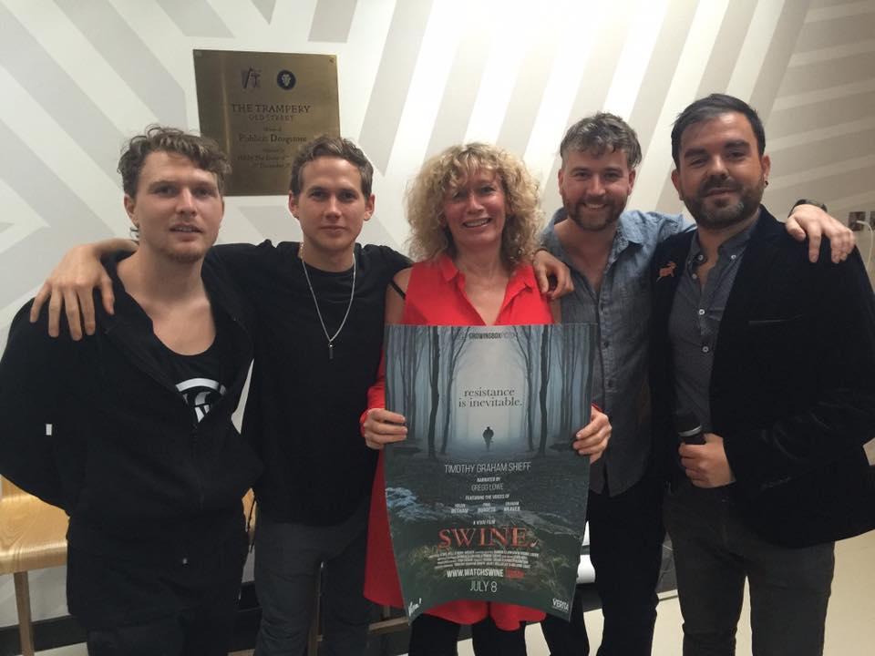 (Pictured right to left: Timothy Shieff, Gregg Lowe, Juliet Gellatley, Damien Clarkson, Robbie Lockie)