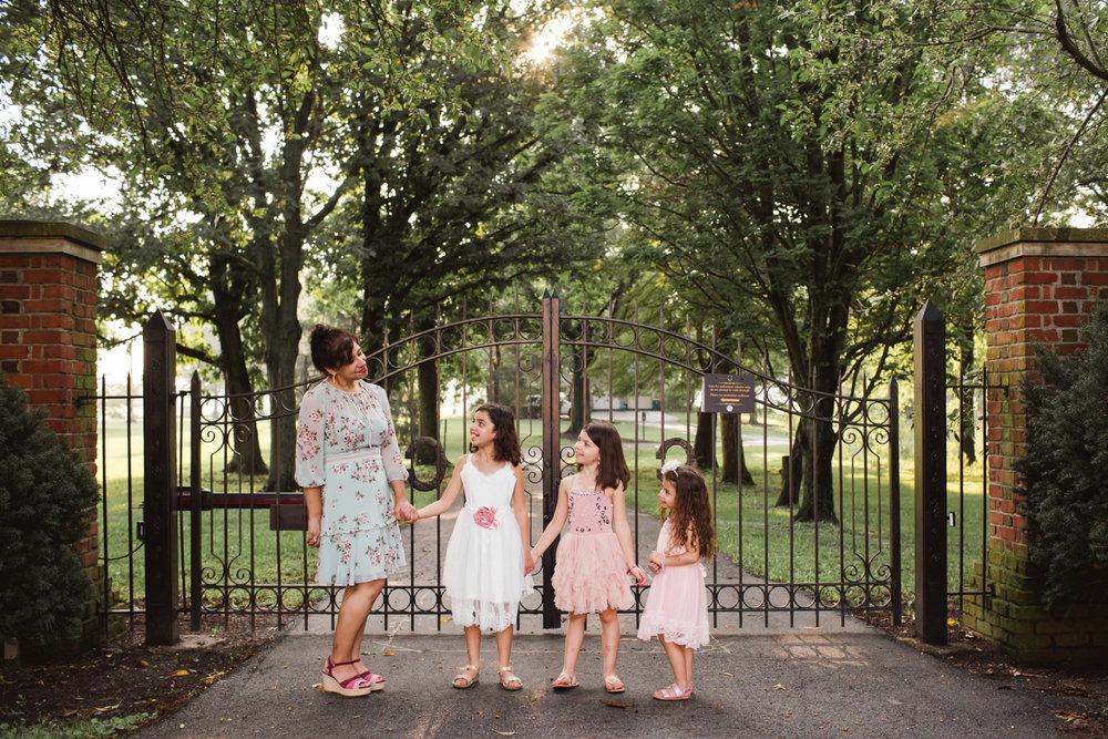 Carmel Indiana Family Photography at Coxhall Gardens