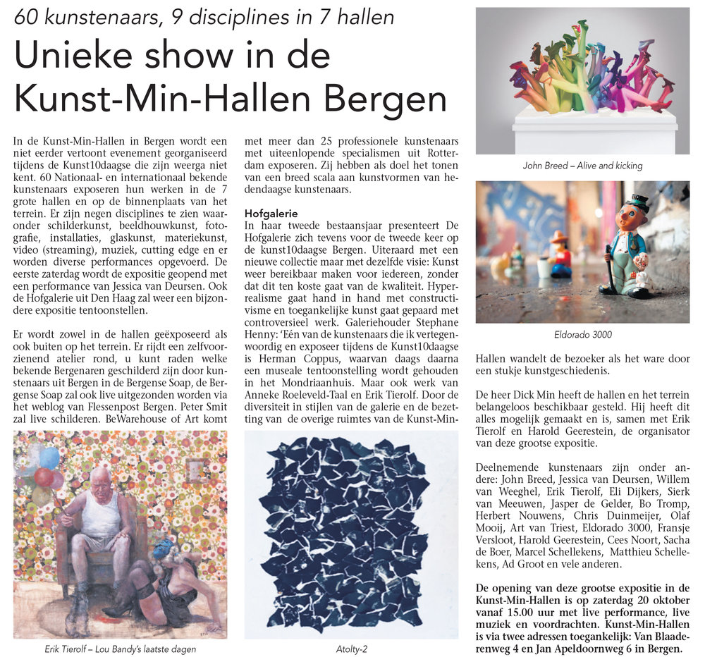 Kunst Min Hallen Bergen kunst10daagse Eli Dijkers Art Photography