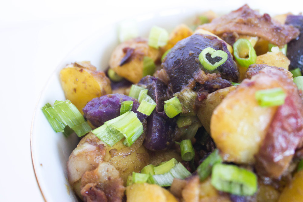 Creamy potatoes, crispy bacon and a tangy dressing make for a winning picnic addition.