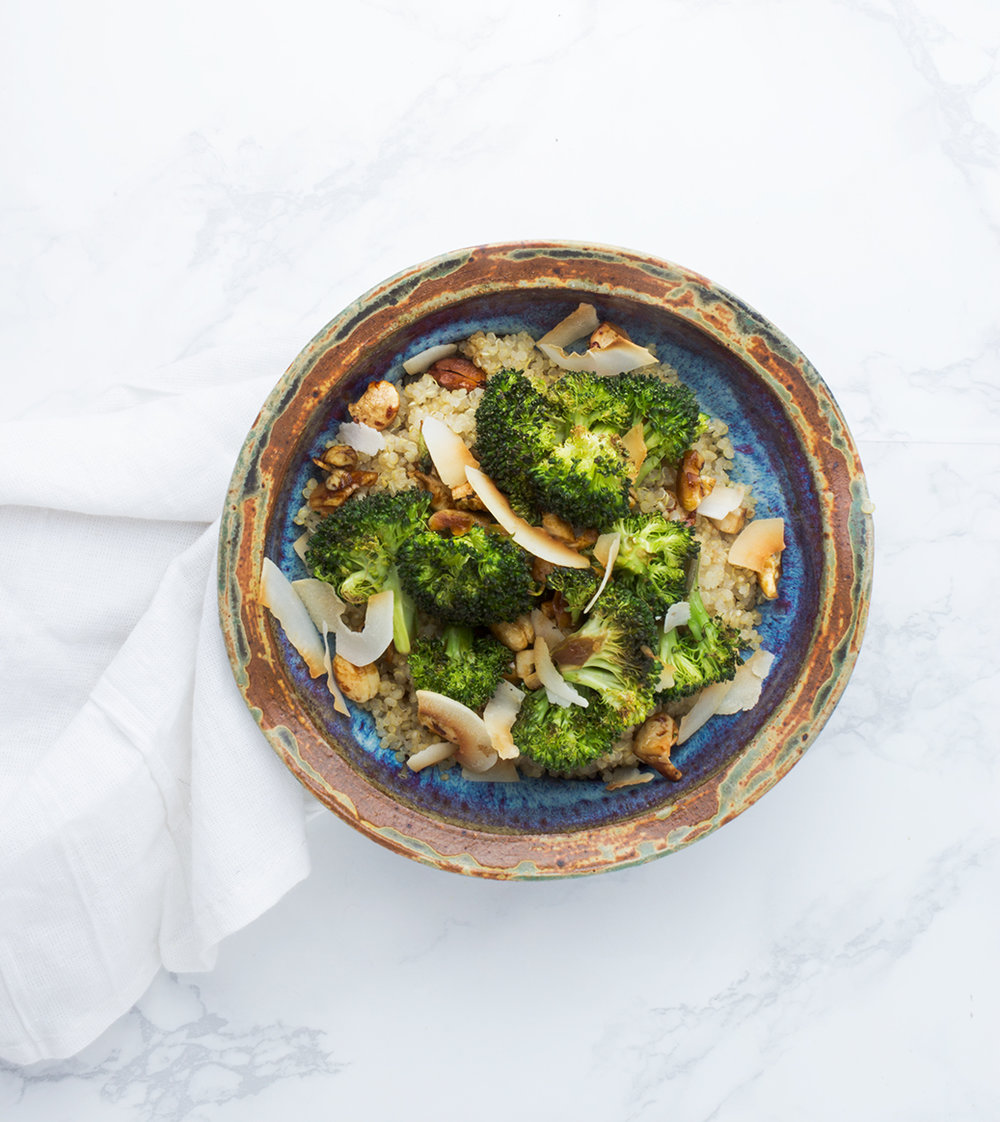 Crunchy, coconut broccoli and quinoa make meal prepping a breeze.