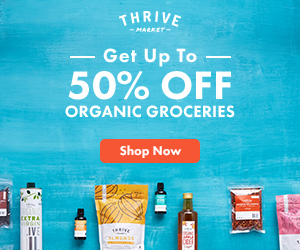 Thrive Market Membership    Yearly Subscription   One stop shopping for name brand, wholesome foods and home goods at wholesale prices.