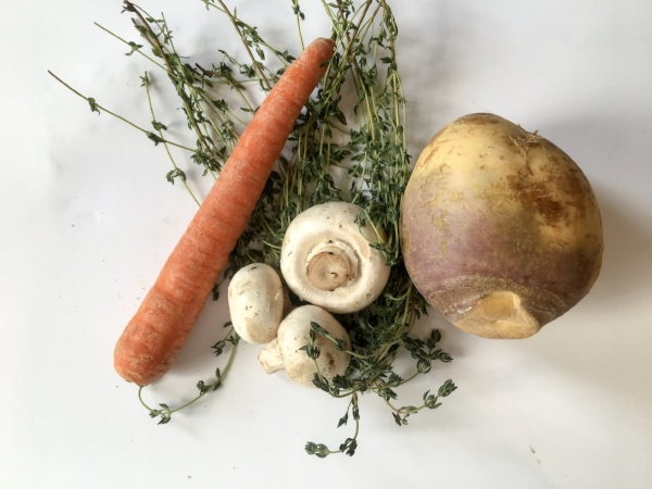 Ugly produce is beautiful - swap out turnips for white potatoes for a new take on beef stew.
