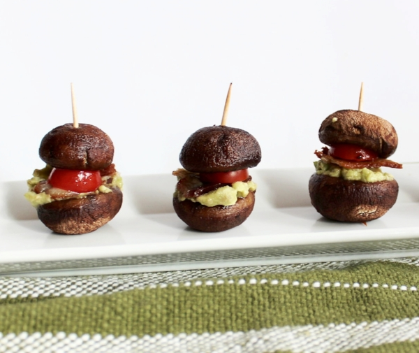 Party ready: These sliders contain healthy fats from avocado in the guacamole and immune boosting properties from the mushrooms.