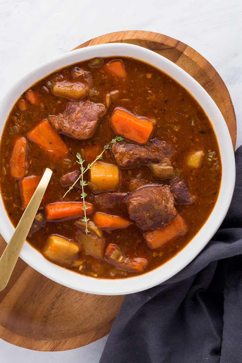 Extra vegetables, swapping turnips for potatoes plus adding bone broth and ghee make this Hearty Beef Stew favorite a nutritional superstar that also warms your soul.