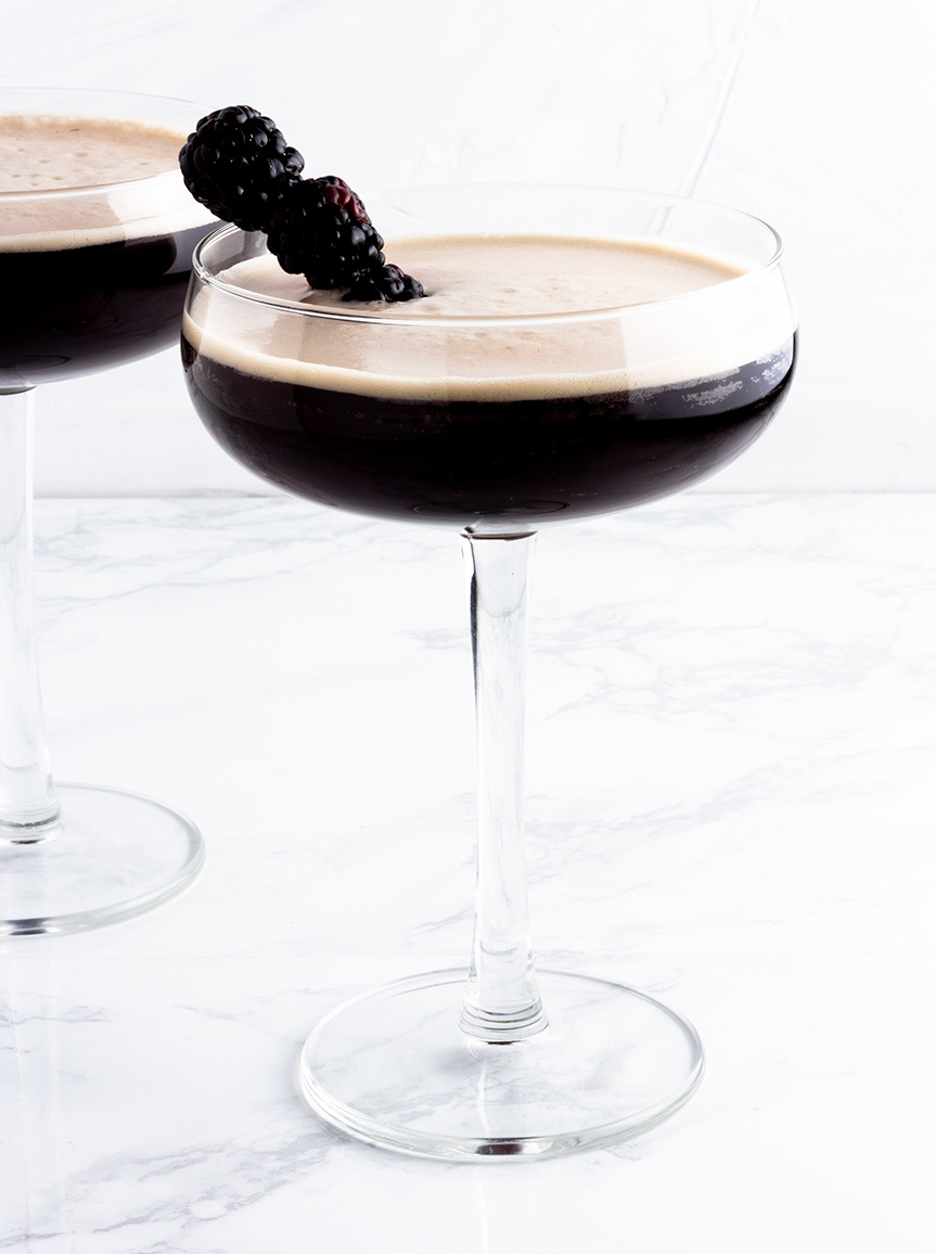 Creamy and smooth this twist on an Irish coffee features an interesting twist: crème de cassis.