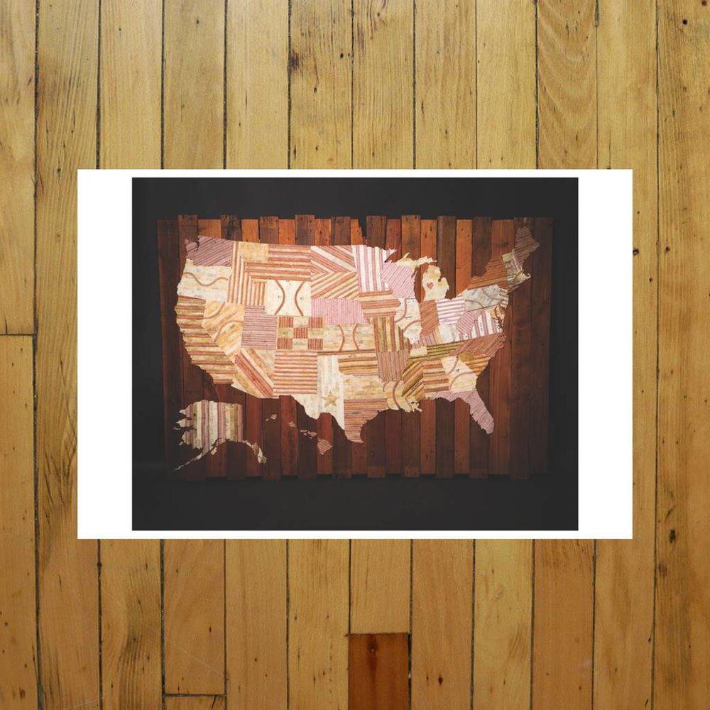 AMERICA AT THE SEAM PRINT OF ARTWORK
