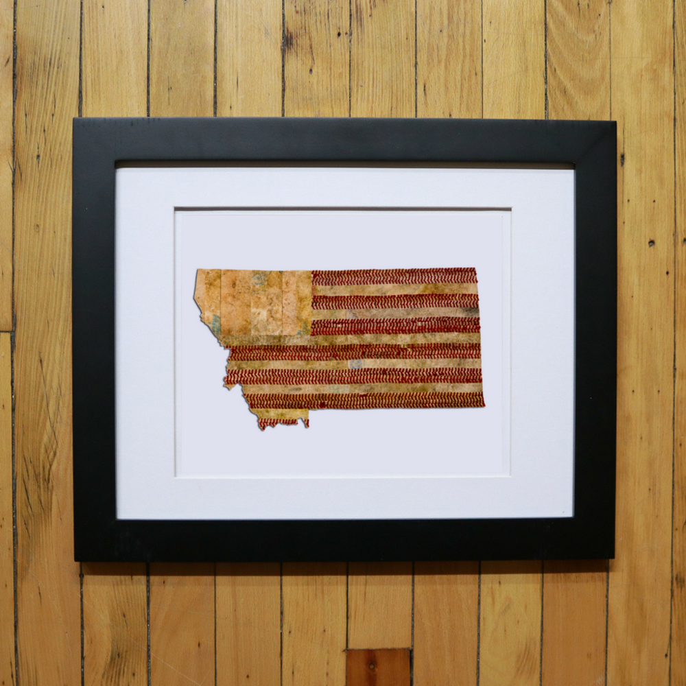 FRAMED PRINT OF STATE ARTWORK