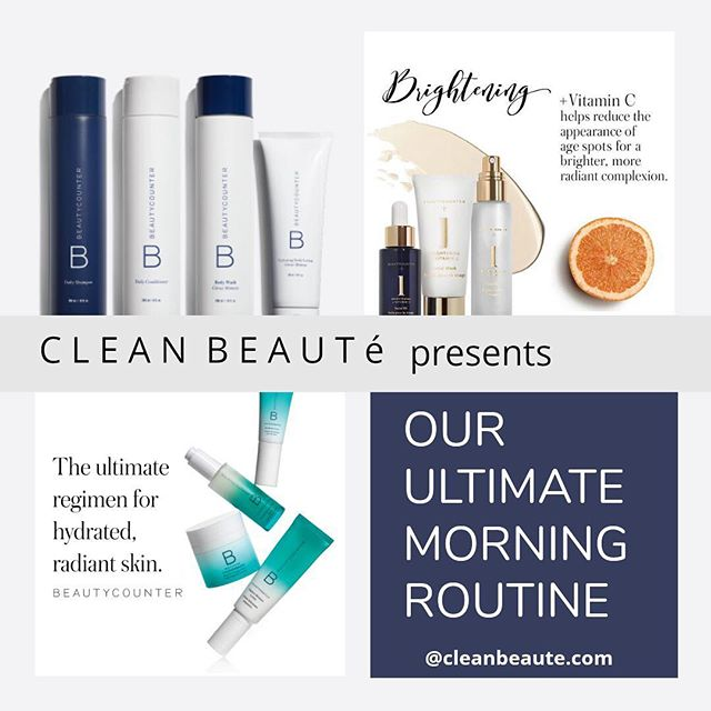 Clean Beauté's Cyber Monday Live starts in 15 minutes! Tune in to hear about our ultimate morning routine!  #cleanbeauté #beautycounter #cybermonday #saferbeauty #cleanliving