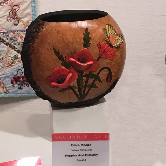 Other Gourd Art - Second Place - Olive Moore