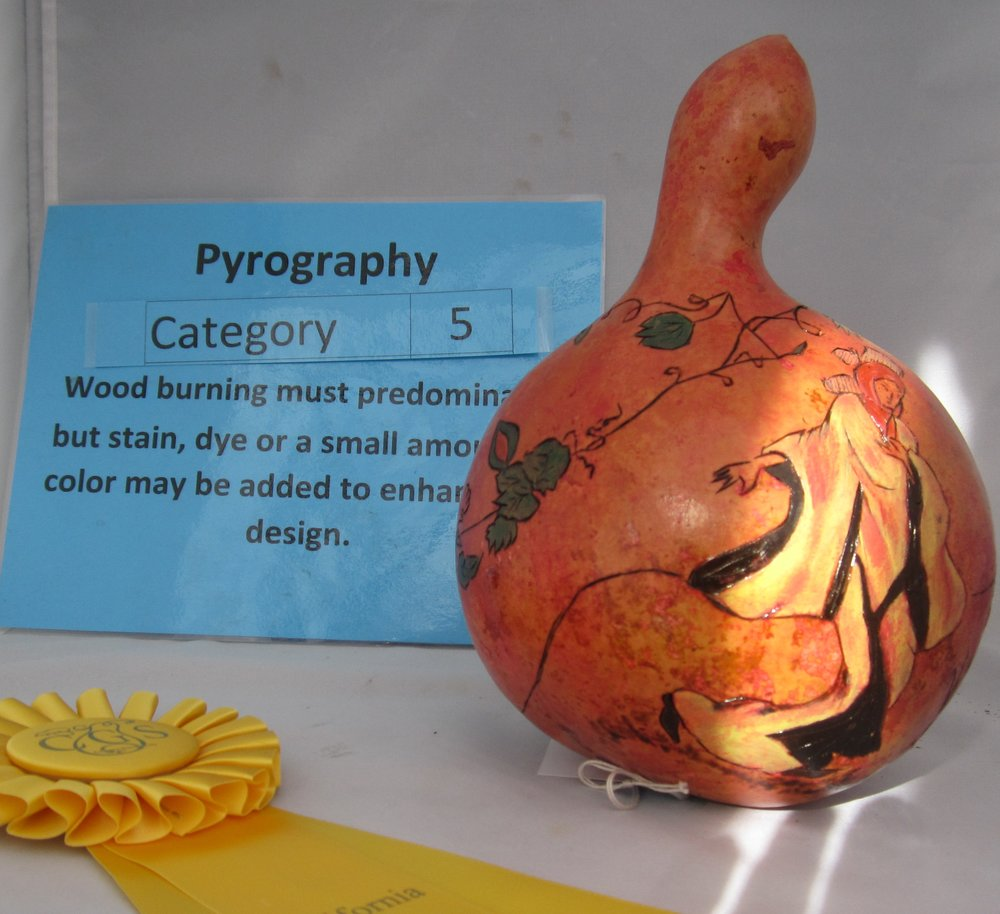 Kim Nebel - Intermediate - Pyrography - 3rd Place