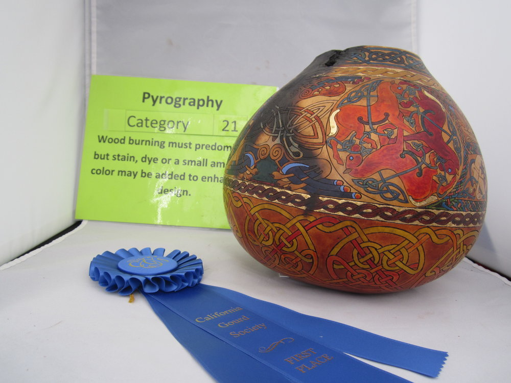 Heather Hopman  - Master -  Pyrography - 1st Place