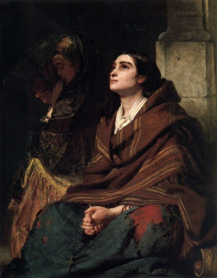 Prayer  (oil on canvas) ~ John Phillip (1859)