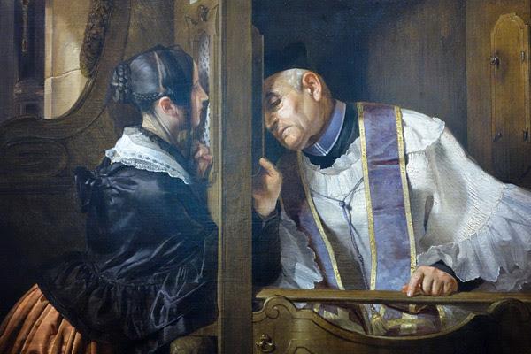 The Confession  ~ Giuseppe Molteni (1838)