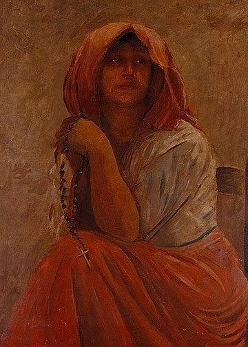 Peasant Woman with Rosary - Edmond De Pury, Venice, 1909