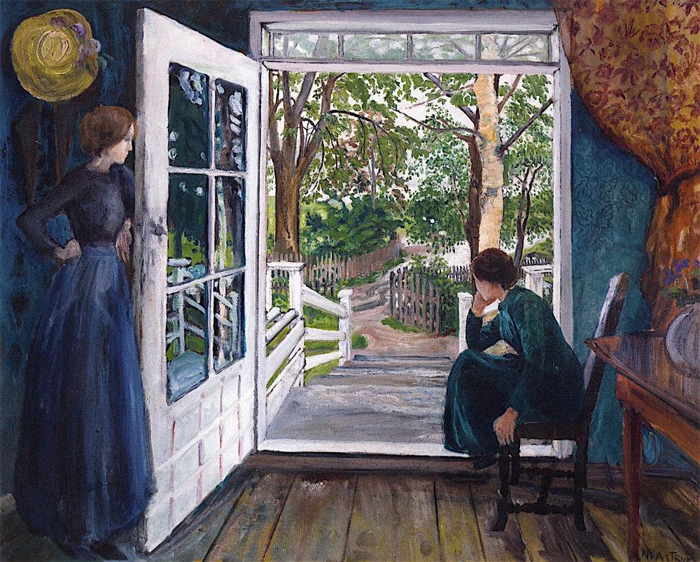 By the Open Door ~Nicolai Astrup (Norway)