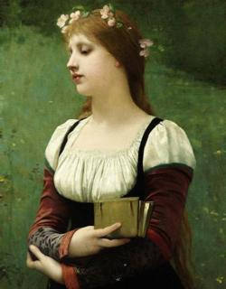 A Pensive Moment  - Jules Joseph LeFebvre (1886)