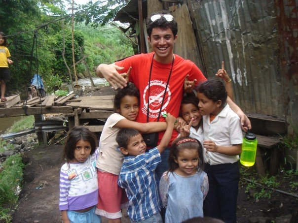 Volunteering in La Carpio in 2007.