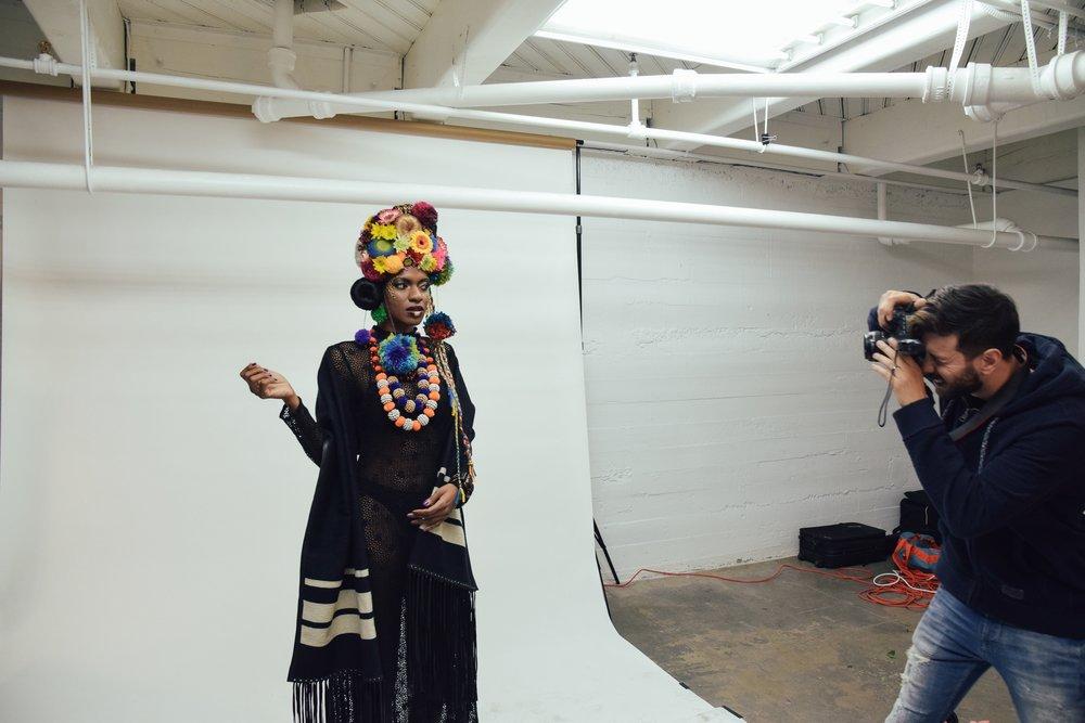 Cameron photographing Deidrian