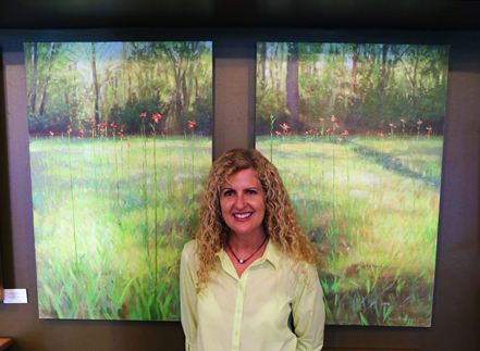 me with original Leaves of Grass diptych