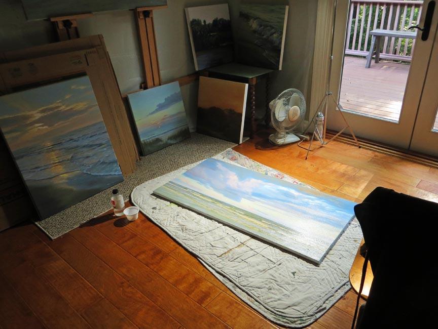 varnishing....