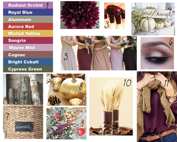 Fall-Inspiration colors for decor 2014