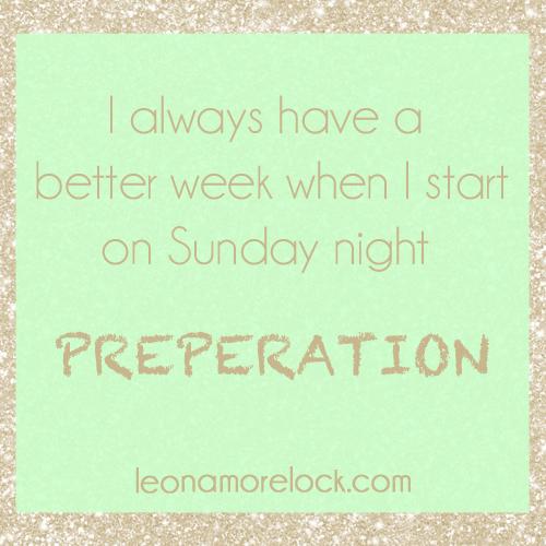 preperation
