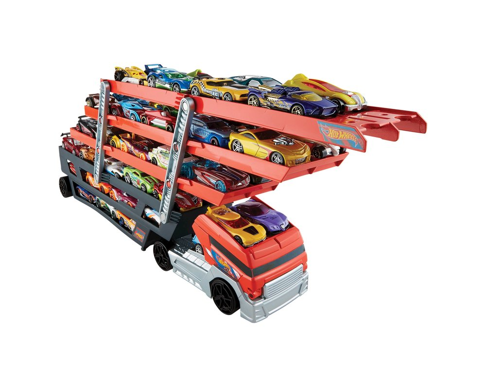 HOT WHEELS CARRIER... - because they can store all of their cars on one vehicle, how cool!