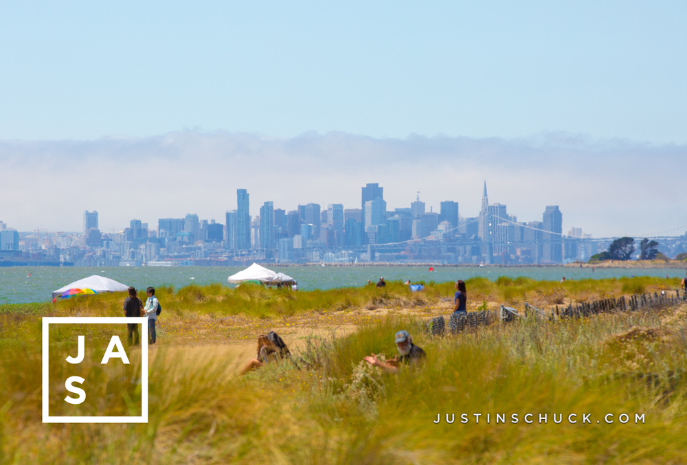"""San Francisco from Alameda Beach"""