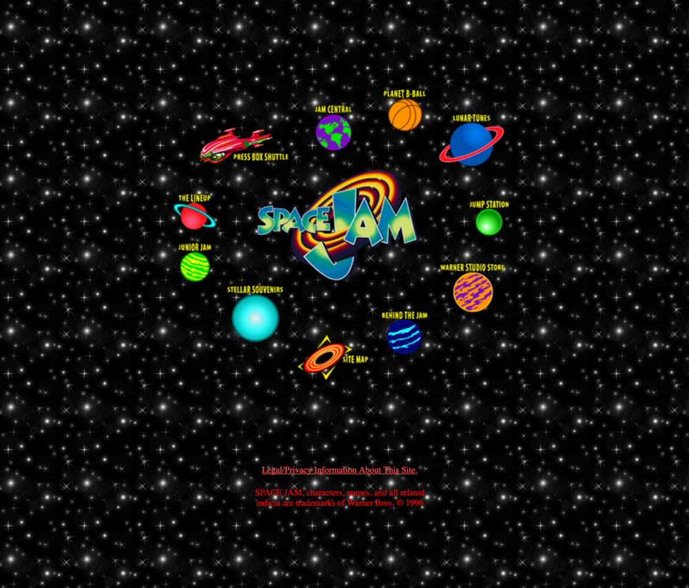 Space Jam Website from Warner Brothers