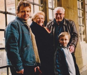 With Alexander Litvinenko and family, Cambridge circa 2000. Bukovsky was one of Litvinenko's pallbearers after his murder in 2006.