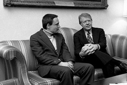 With President Carter, 1977