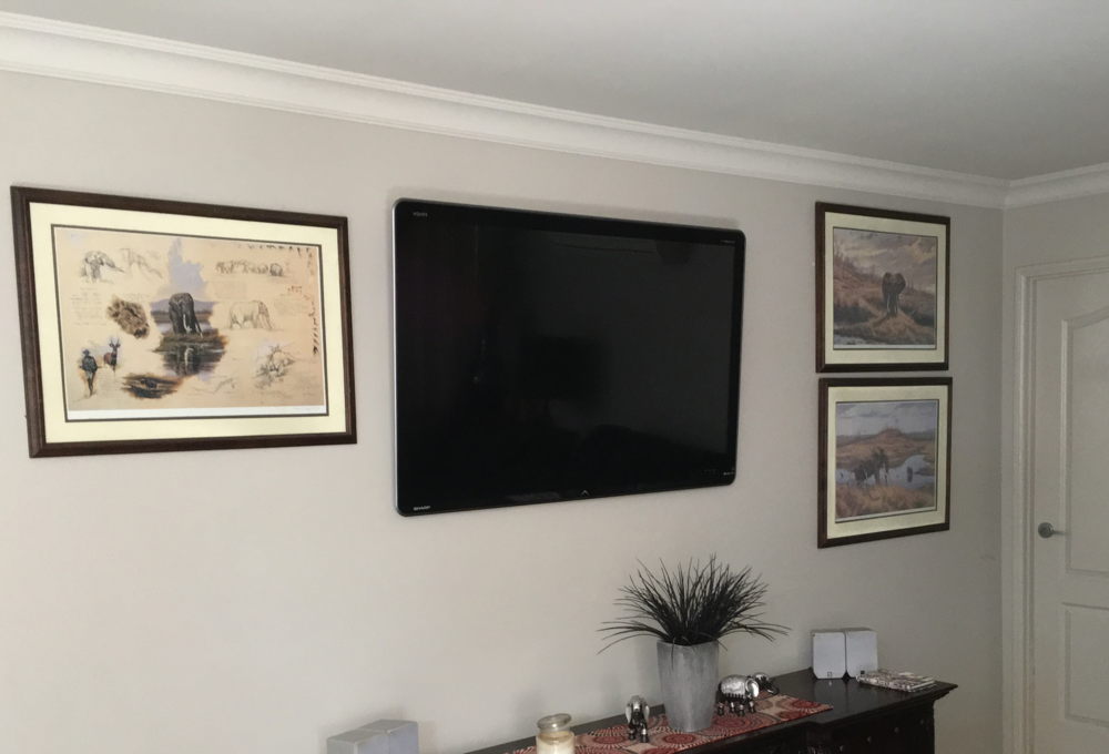 Large TV Mounted To A Cavity Wall In Home Highfields When The
