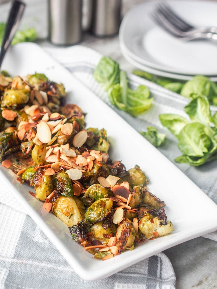 Pesto Roasted Brussel Sprouts