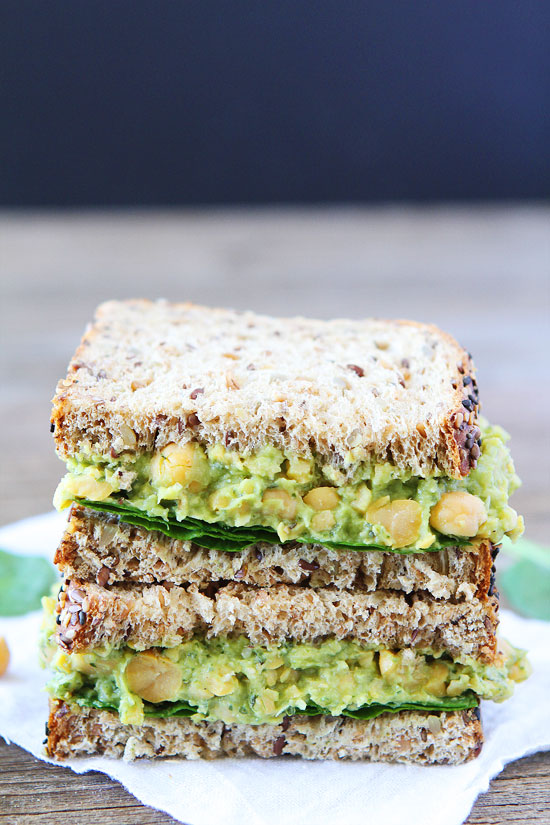 Smashed Chickpea, Avocado, and Pesto Salad