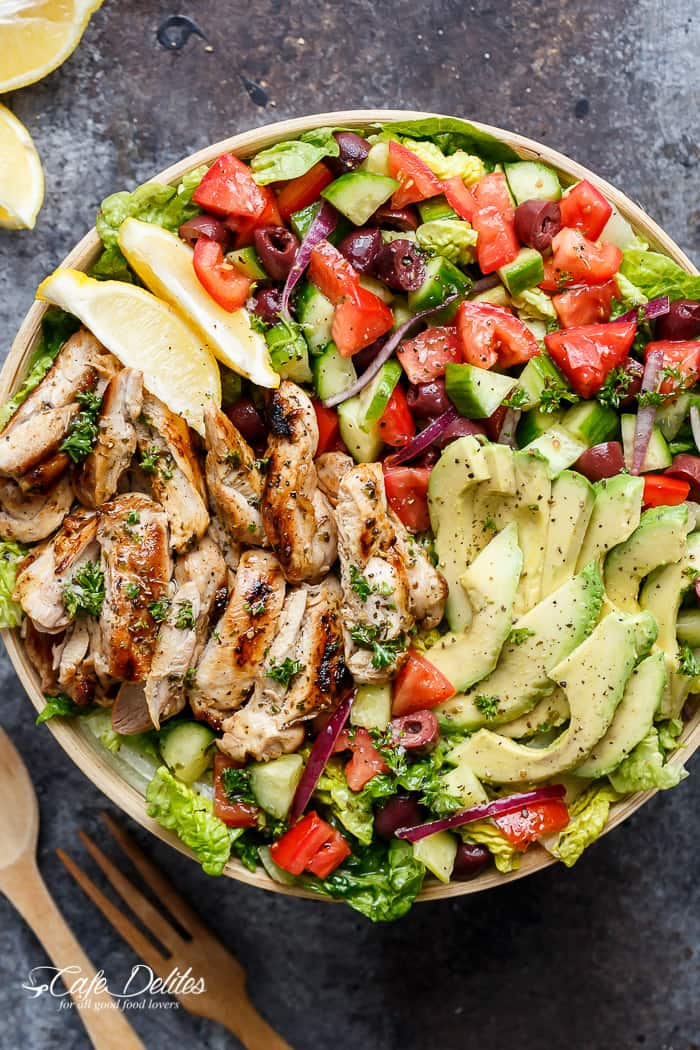 Mediterranean Chicken Salad -